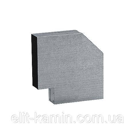 Коліно 90° оцинковане для системи прямокутних каналів (150х50 мм)