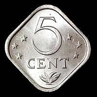 Монета Нидерландских Антильских островов 5 центов 1976 г., фото 1