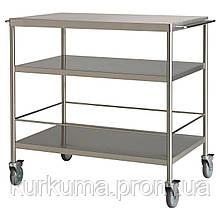 IKEA FLYTTA Столик на колесах, нержавеющая сталь  (000.584.87)