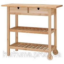 IKEA FORHOJA Столик на колесах, береза  (800.359.20)