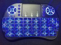 Беспроводная мини клавиатура RT-MWK08 Blue LED подсветка, фото 1