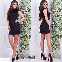Женское мини платье чёрное