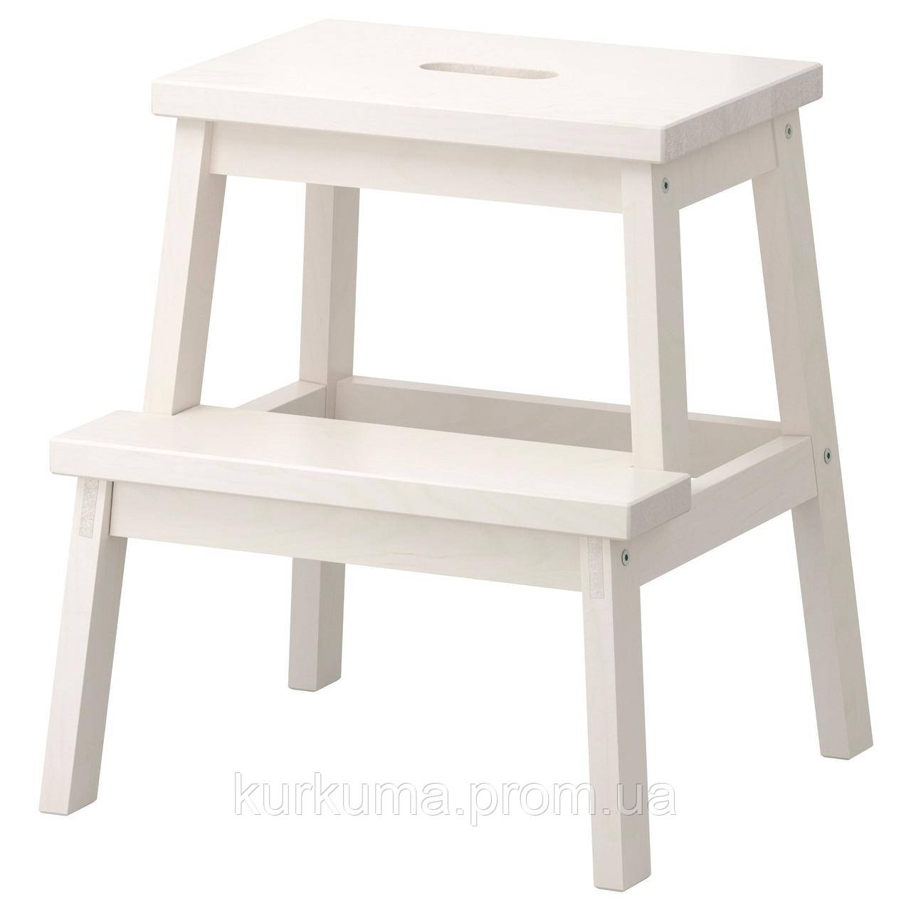 IKEA BEKVAM Табурет-лестница, белый  (401.788.88)