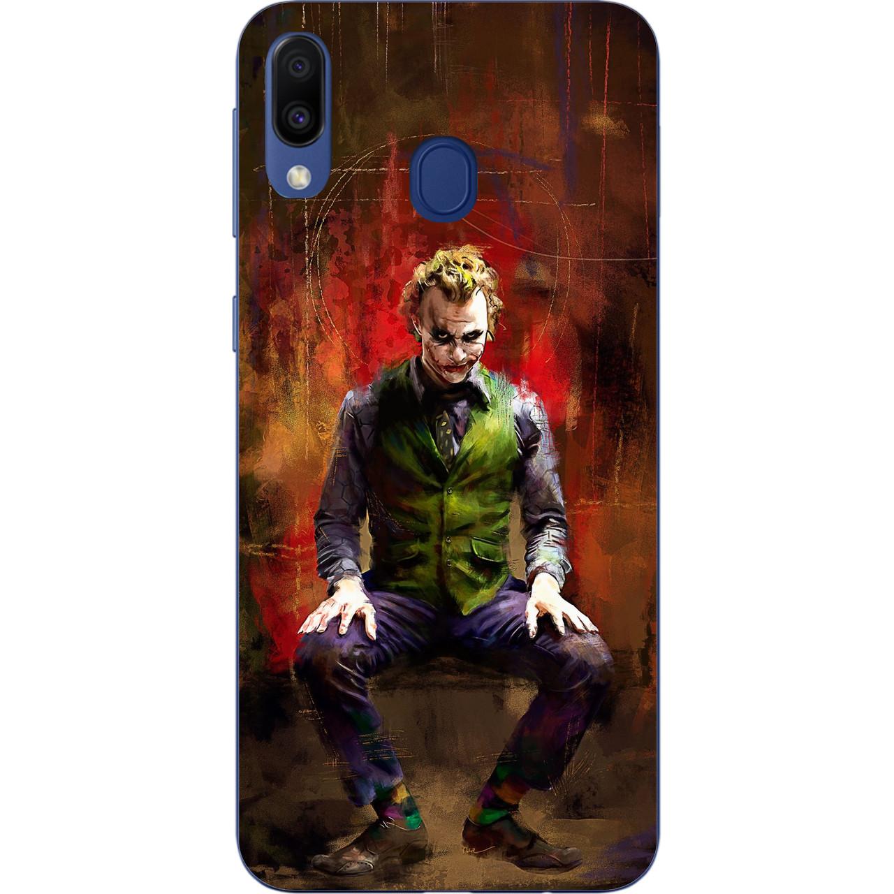 Силиконовый чехол бампер для Samsung Galaxy M20 с картинкой Джокер