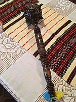 Булава дерев'яна сувенірна інхрустована ручної роботи 49 см