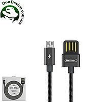 USB Data кабель MicroUSB Remax Tinned copper RC-080m,черный