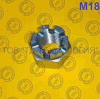Гайки шестигранні корончаті прорізні ГОСТ 5918-70, DIN 935. М18, фото 1