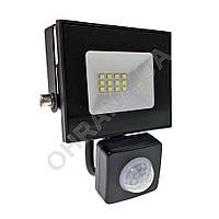 LED прожектор с датчиком движения 10W SLIM PIR, фото 1