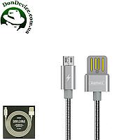 USB Data кабель MicroUSB Remax Tinned copper RC-080m,серый