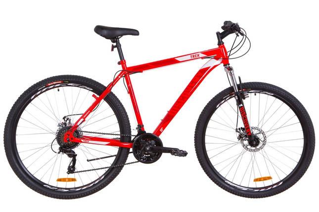 """Горный велосипед 29"""" Discovery TREK DD 2018 (черно-оранжевый хаки (м)), фото 2"""