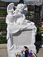 Детский памятник с ангелом № 3