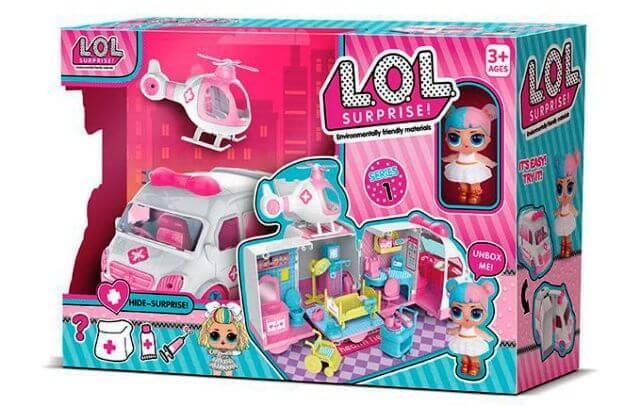 Кукла LOL машина Скорой помощи QL 049-1