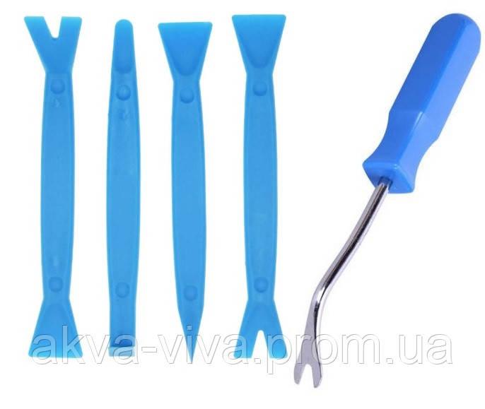 Инструменты для снятия обшивки (облицовки) авто (5 шт).