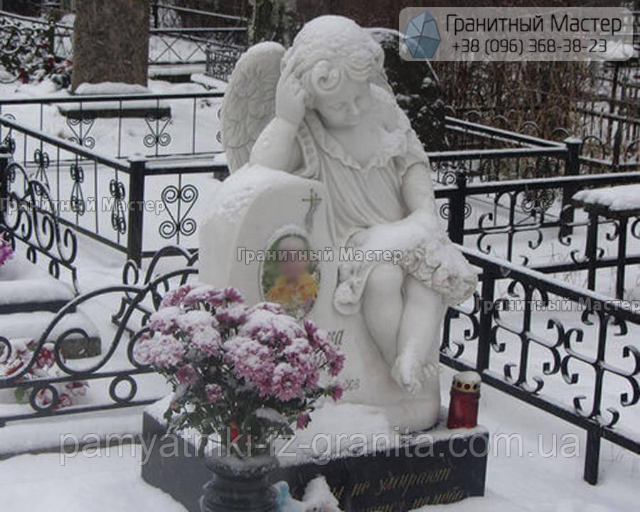 Детский памятник с ангелом № 4