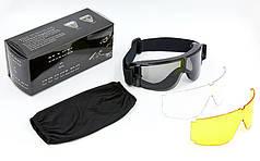 Очки тактические прозрачный визор TY-X800 (пластик, акрил, 2 сменные линзы)