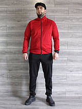 Спортивный костюм мужской Nike красный, черный Турция реплика, фото 2