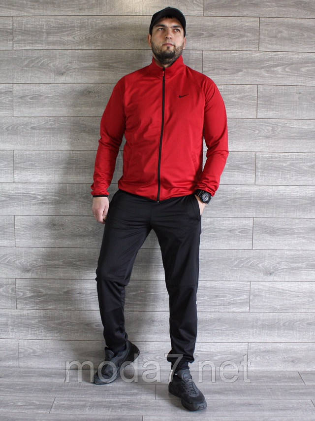 Спортивный костюм мужской Nike красный, черный Турция реплика