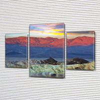 Модульная картина Горы Горный хребет Монголия, на ПВХ ткани, 45х70 см, (30x20-2/45x25), Триптих, фото 1