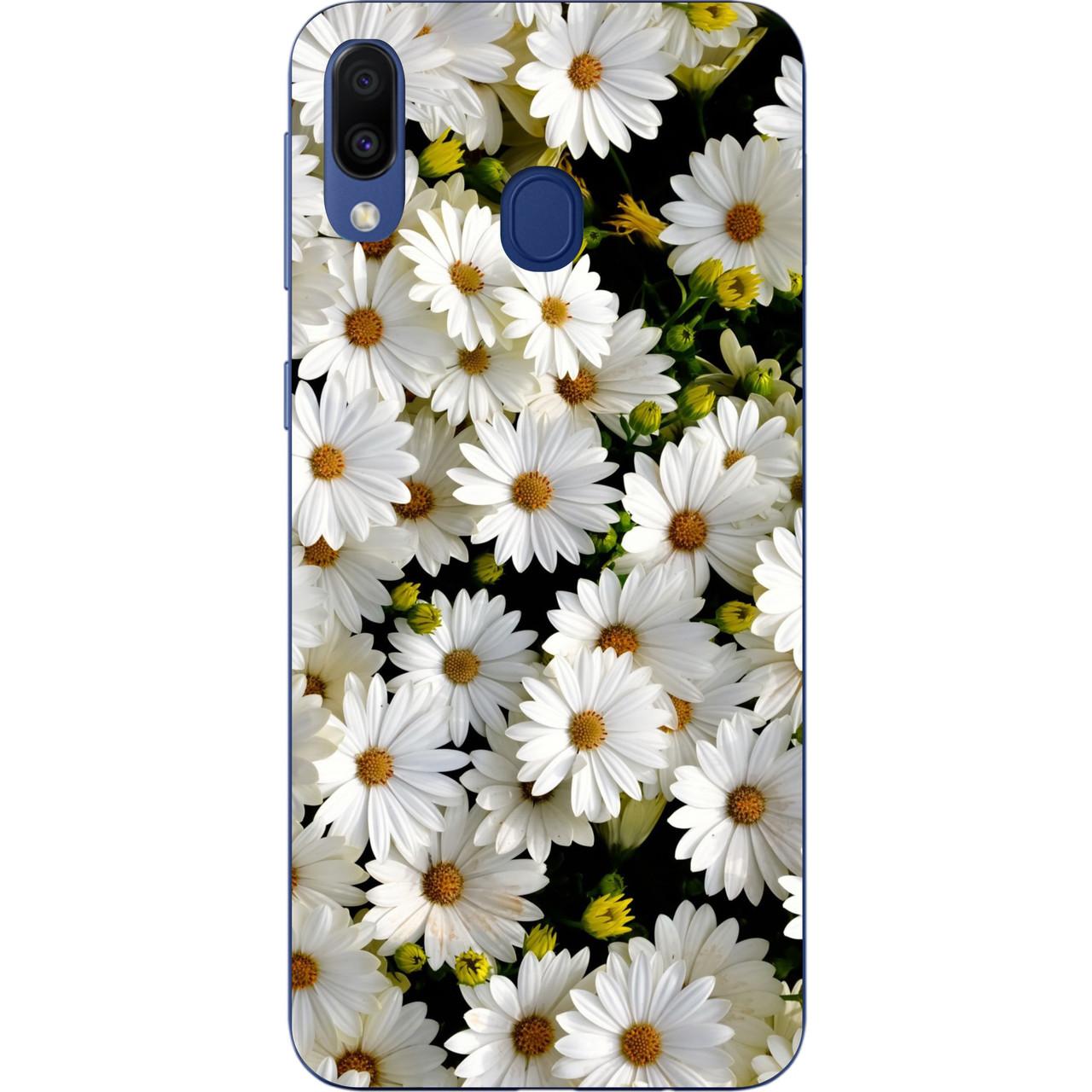 Силіконовий TPU чехол для Samsung Galaxy M20 з картинкою Ромашки
