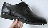 Timberland Oxford чоловічі чорні замшеві туфлі броги оксфорд репліка Тімберленд, фото 6