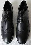 Timberland Oxford чоловічі чорні замшеві туфлі броги оксфорд репліка Тімберленд, фото 8