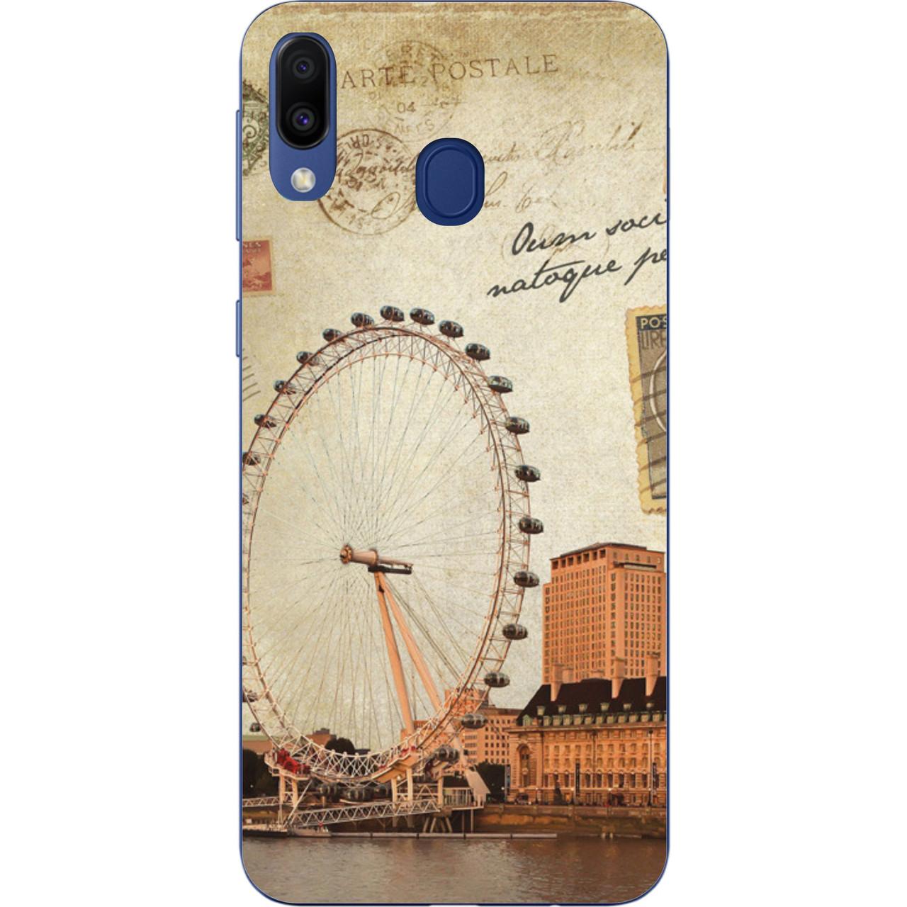Оригинальный чехол накладка для Samsung Galaxy M20 с картинкой Лондон