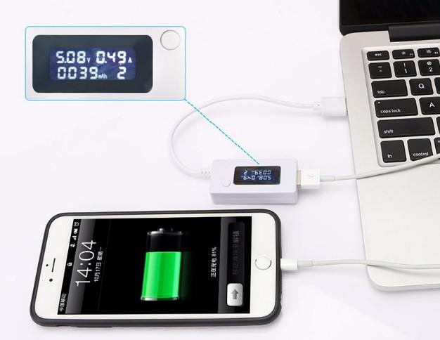 USB тестер КСХ-017 с дисплеем