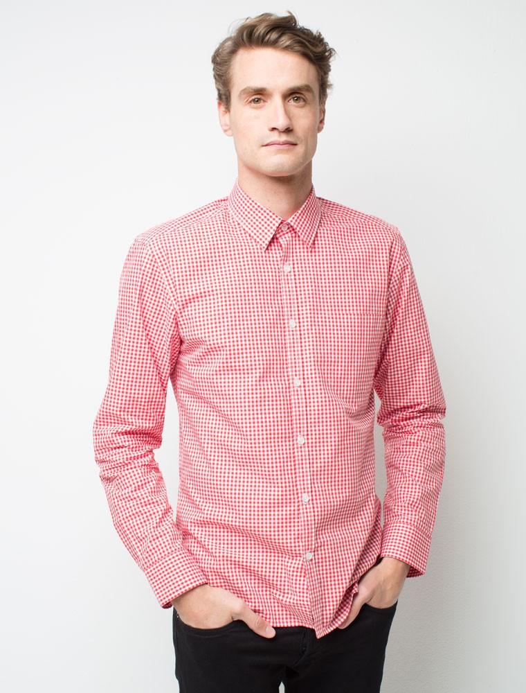 Рубашка для официанта мужская красная клетчатая Atteks - 02310