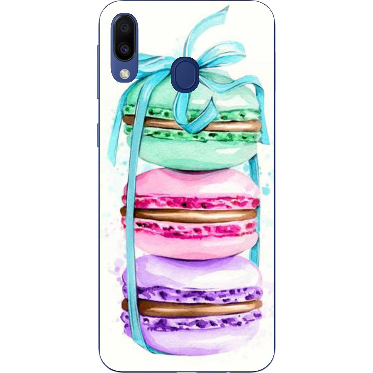 Оригинальный чехол накладка для Samsung Galaxy M20 с картинкой Пирожные