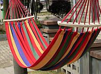 Гамак подвесной лен 2х0,8м, гамак тканевый для туризма и дачи
