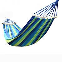 Гамак подвесной лен 2х1м, гамак тканевый для туризма и дачи