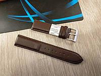 """Кожаный ремешок для наручных часов - темно-коричневый гладкий - """"Nagata"""" 22 мм Spain"""