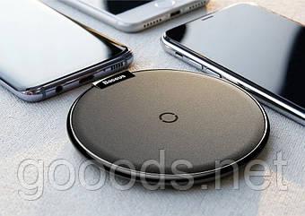Беспроводное зарядное устройство Baseus стандарта Qi, кожа и металл