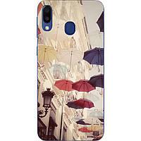 Оригинальный чехол накладка для Samsung Galaxy M20 с картинкой Зонтики