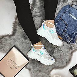 😜Весенние женские белые кроссовки на высокой подошве
