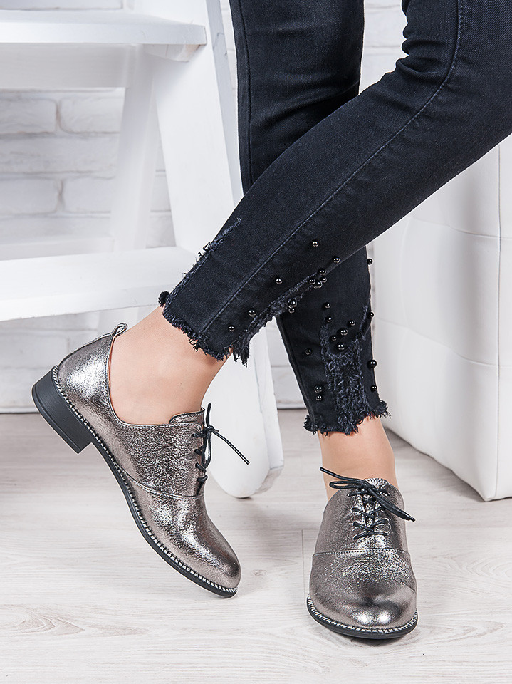 Туфли кожаные сатин Эвелин 6964-28