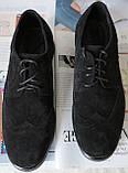 Timberland Oxford чоловічі чорні замшеві туфлі броги оксфорд репліка Тімберленд, фото 2