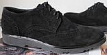 Timberland Oxford чоловічі чорні замшеві туфлі броги оксфорд репліка Тімберленд, фото 3