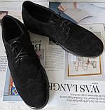 Timberland Oxford чоловічі чорні замшеві туфлі броги оксфорд репліка Тімберленд, фото 4