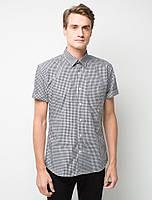 Рубашка для официанта мужская клетчатая с коротким рукавом Atteks - 02312