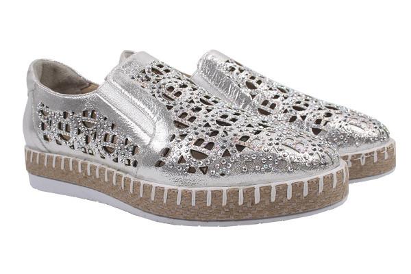 Туфли комфорт Tucino натуральный сатин, цвет серебро