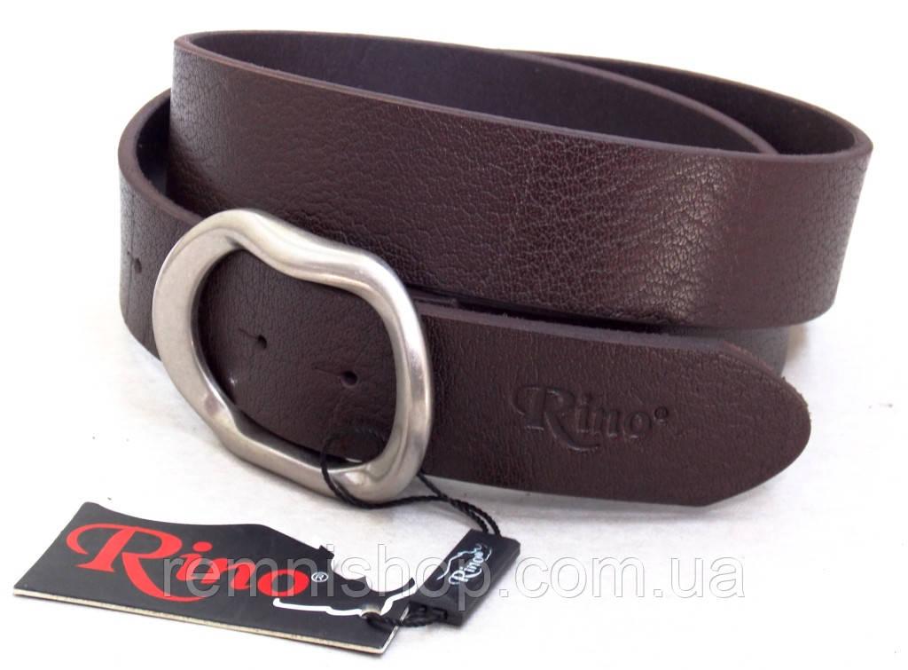 Шкіряний чоловічий ремінь Rino коричневий