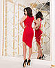 """Облегающее асимметричное мини-платье """"I GOT IT"""" с принтом и драпировкой (2 цвета), фото 5"""