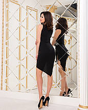 """Облегающее асимметричное мини-платье """"I GOT IT"""" с принтом и драпировкой (2 цвета), фото 3"""