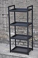 Столик мастера на 4 полки черный