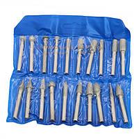 Набор боров алмазных на штоке 6,0 мм (20 шт) мелкое зерно