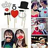 Фотобутафория 8 штук усы и губы на палочках для фотосессии , фото 2