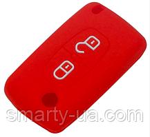 Силиконовый чехол на ключ две кнопки Citroen C4 C5 C3 C2 C4L Xsara Picasso