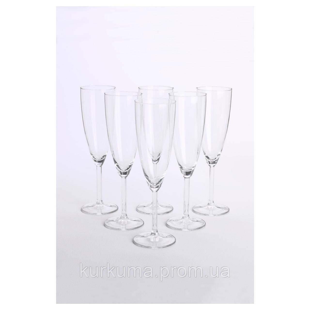IKEA SVALKA Бокал для шампанского, прозрачный  (500.151.22)