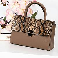 03c670fbc488 Женская сумка из искусственной кожи с тиснением под питон Prаdа (копия), в  цвете